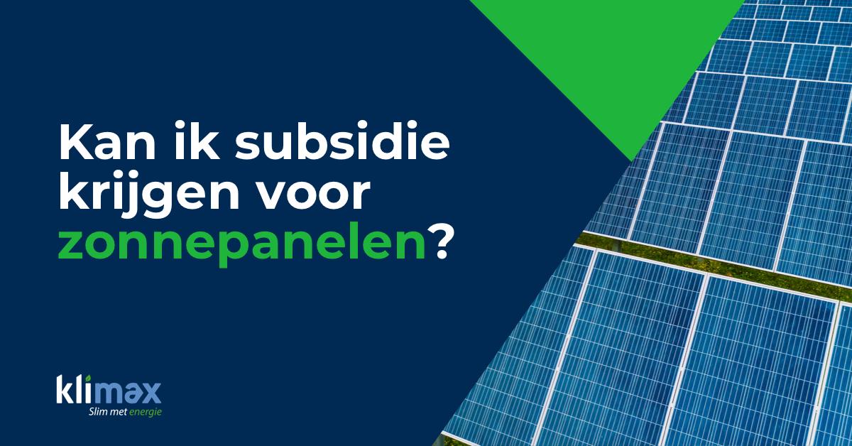 , Subsidie op zonnepanelen